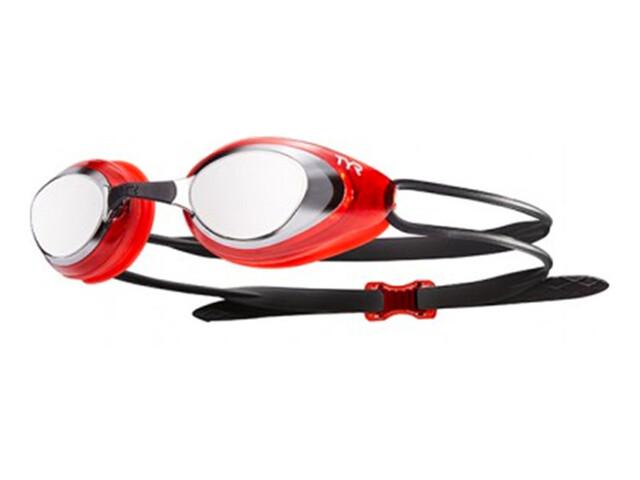 TYR Black Hawk Racing Mirrored duikbrillen Heren rood
